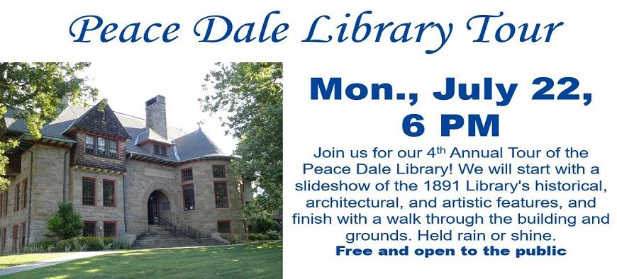 Peace Dale Library Tour 6:00 pm