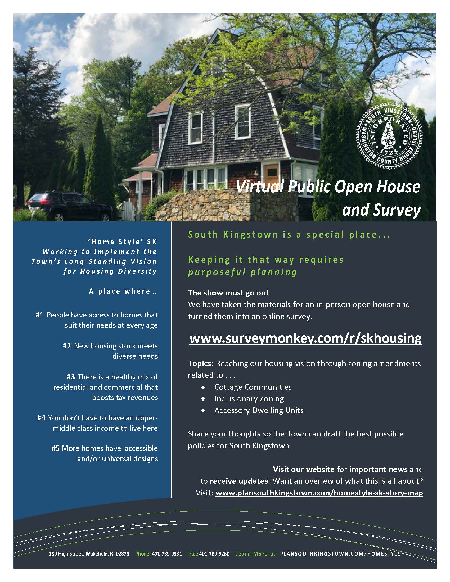 Virtual Open House Advertising Flyer