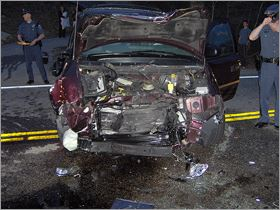 Vehicle Damaged in a Collision